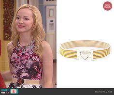 Liv's striped heart belt on Liv and Maddie.  Outfit Details: http://wornontv.net/47433/ #LivandMaddie
