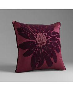 Sofia by Sofia Vergara Floral Fantasy Decorative Pillow Pearl