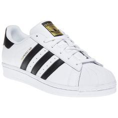 0beb5b20279e0 The  adidas trainer of the moment. The white and black Superstar can be  spotted