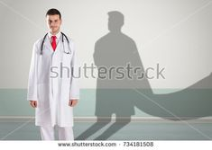 Young Happy Doctor Superhero Shadow On (editar agora): foto stock 734181508 Happy, Wall, Image, Pictures, Ser Feliz, Walls, Being Happy