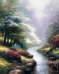 Petals of Hope  by Thomas Kinkade