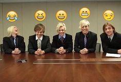 Rockys emoji is the funniest! I love this interview, their all in their underwear. xDD