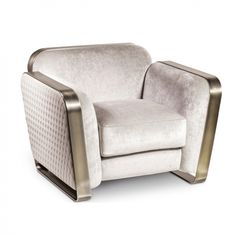 High End Contemporary Italian Designer Quilted Leather Armchair - Home Decoration And Indoor Furniture Living Room Sofa Design, Living Room Furniture, Iron Furniture, Furniture Design, Modern Furniture, Sofa Italia, Sofa Set Designs, Single Sofa, Sofa Chair