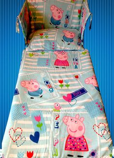 happy peppa pig bedding bicycle bed sheets gift bedding set for