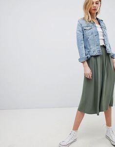 ASOS | ASOS DESIGN midi skirt with box pleats