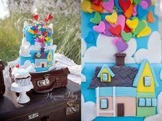 Disney Up cake Disney Up, Engagement Shoots, Yummy Cakes, Birthday Cakes, Balloons, Desserts, Photography, House, Food