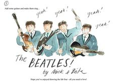 How to draw... The Beatles!