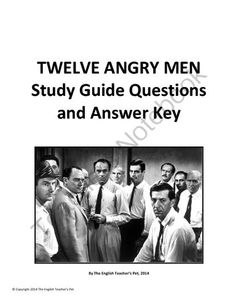 """study guide for 12 angry men Hange the name of the curriculum or study guide to a """"resource and tour guide""""  explore, read, and discuss as they discover 12 angry men for struggling readers, complex or unfamiliar  twelve angry men is a 1954 american drama by reginald rose."""