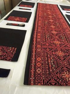 Palestinian embroidery table runner . . The sky is the limit