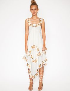 White Maxi Dresses - Summer Ruffle Dress - Metallic Dress