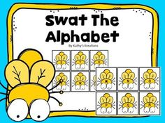 "Students will love practicing letter identification with these adorable Swat Cards. Uppercase and lowercase letters are included in this product. This game can be played in a small group setting, whole group or at a literacy center. Students ""swat"" the flies with a fly swatter"