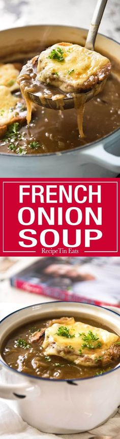 One of the most popular soups in the world, this is a true classic French Onion…