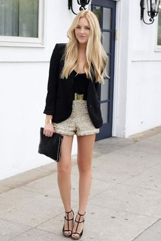 New Year Eve Outfits Ideas, 2014 new year's eve outfit, New Year's Eve outfit - Sequin shorts