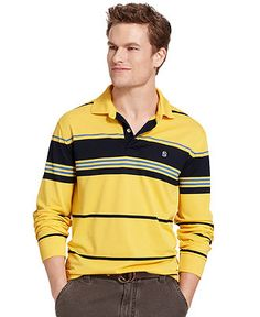 Izod Shirt, Performance Stripe Polo Shirt - Mens Polos - Macy's