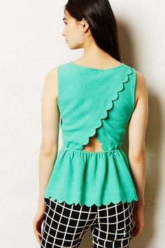 Clovelly Peplum Top #anthropologie #anthrofave