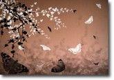 Blossoms, Art For Kids, Butterflies, Ships, Canvas, Children, Green, Painting, Bronze