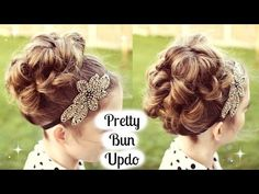 Vintage Hairstyles For Prom Bun Hairstyles Updo Tutorial for Prom / Wedding Kids Updo Hairstyles, Princess Hairstyles, Flower Girl Hairstyles, Little Girl Hairstyles, Pretty Hairstyles, Wedding Hairstyles, Hairdos, Vintage Hairstyles, Hairstyle Ideas