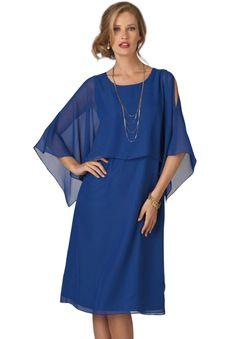 A-Line Capelet Dress   Plus Size Special Occasion   Bargain Catalog Outlet