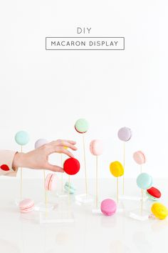 DIY macaron display - Sugar & Cloth - So fun! This is the perfect DIY for your next party! Pastel, Macarons, Girl Birthday, Party Time, Diy And Crafts, Diy Projects, Entertaining, Make It Yourself, Instagram Posts