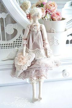 Куклы Тильды ручной работы. Ярмарка Мастеров - ручная работа Кукла в стиле Тильда Жаклин. Handmade.