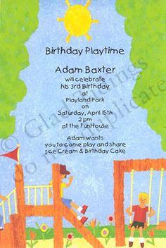 Playful playground birthday party invitation cards invite kids playful playground birthday party invitation cards invite kids kids pinterest playground birthday parties party invitations and birthdays filmwisefo