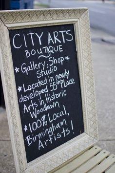 Chalkboard Shop Sign