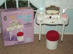 Vintage Pedigree Sindy Doll Rare Marx Dressing Table Set With Box.