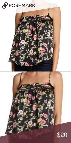 388640aa853 H.I.P. Black Curry Floral Print Spaghetti Top Tank This is a H.I.P.  Happening in the Present Flowy Top. It is a floral spaghetti strap tank top.  So cute!