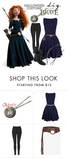 """Marida diy costume"" by starspy ❤ liked on Polyvore featuring Merida, Closet, Disney, Topshop, Hush Puppies, Once Upon a Time, Halloween, brave, halloweencostume and diycostume"