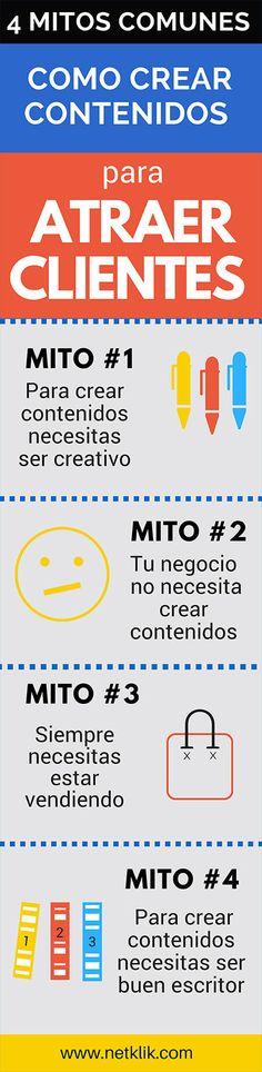 Descubre los 4 mitos asociados con cómo crear contenidos para atraer clientes y evita errores comunes que frenan el éxito de tu estrategia de contenidos.