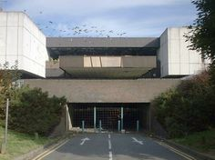 The entrance to the Dolphin Centre car park, Dolphin Approach, August 2001.