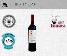 Great Awarded Red Wines under 5€ ! SAMORA RED 2012 - https://thirstycat.shopk.it/product/samora-red