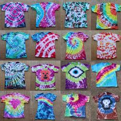 Tulip Tie Dye T-shirt Party! Tulip Tie Dye T-shirt Party! Tie Dye your Summer! Tie Dye is the first signs of Summertime. The bright colors and hippy look are perfect for Summer b… Fête Tie Dye, Tulip Tie Dye, Tie Dye Party, How To Tie Dye, Tie And Dye, Party Party, Ideas Party, Shibori, Ty Dye