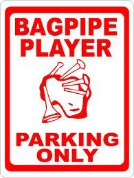 Bagpipe Player Parking