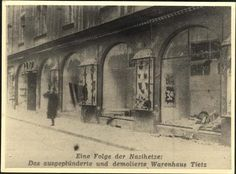 Regensburg, Germany, Ruined Jewish-Owned Shops following Kristallnacht