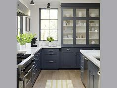 glass in uppers for built ins