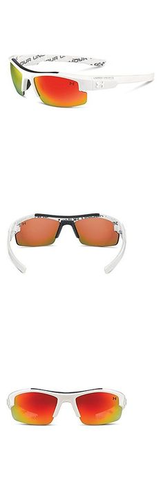 Sunglasses 131411: Under Armour Nitro L Youth Deeper Lens Cut White W Repeating Ua Wordmark On -> BUY IT NOW ONLY: $66.16 on eBay!