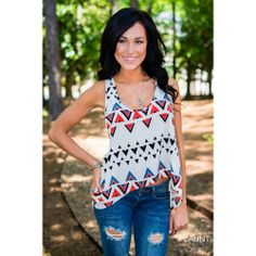 """Aztec Parted Top enter SOFLAGRL under """"view cart"""" for a discount"""