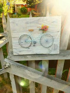 Check out this item in my Etsy shop https://www.etsy.com/listing/181391305/vintage-bicycle-string-art