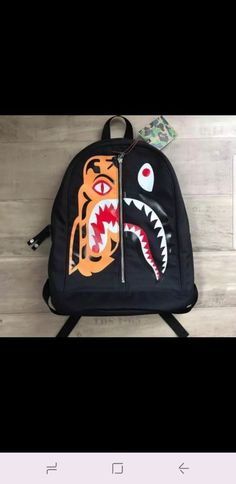 89c0ae2293 Bape Tiger shark backpack  fashion  clothing  shoes  accessories   mensaccessories  bags (ebay link)