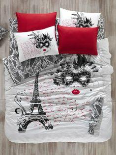 100% Cotton 3pcs Paris the Mask Single Twin Size Duvet Cover Set Eiffel Theme Bedding Linens Bepoe HT http://www.amazon.com/dp/B00IA7EJ3O/ref=cm_sw_r_pi_dp_NF5Ktb0JX2AMDT8N