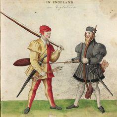 English Archers, Códice De Trajes, 1540 http://bdh-rd.bne.es/viewer.vm?lang=en&id=0000052132&page=1