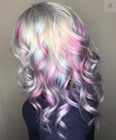 Opal, mermaid, pastel hair