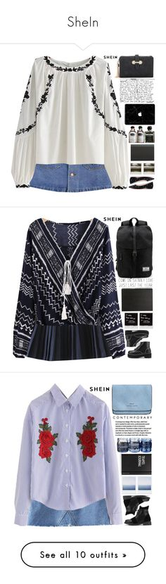 """SheIn"" by scarlett-morwenna ❤ liked on Polyvore featuring Polaroid, CO, Muji, vintage, Design Letters, Laura Ashley, Jura, Hostess, SAM. and WithChic"