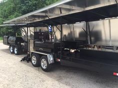 GrillBillies Barbecue can design a custom BBQ trailer with just about any component. With our large selection of Meadow Creek barbecue equipment we can design t Custom Bbq Smokers, Custom Bbq Pits, Bbq Smoker Trailer, Large Bbq, Offset Smoker, Custom Trailers, Barbecue, Cool Trucks, Outdoor Decor