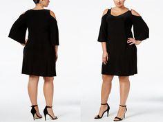 #PlusModelMag Plus Fashion Find: MSK Embellished Cold-Shoulder Dress at Macy's @PlusModelMag