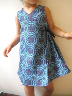 Reversible kimono dress Instant download-PDF pattern-12m to
