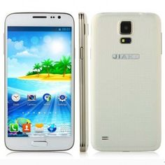 JIAKE G9006W smartphone use 5.0 inch screen, 256MB RAM + 2GB ROM with MTK6572W Dual Core 1.2GHz processor, has 2MP front + 2MP rear double camera, and installed Android 4.2 OS.
