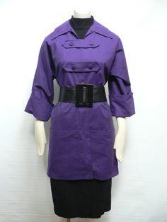 vintage 1940s women's purple smock top / 40s by secreteyesonly, $69.00