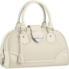 Women Louis Vuitton Epi Leather Montaigne GM Ivory M5931J